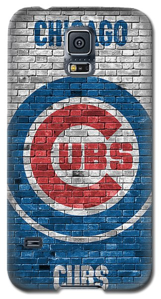 Bat Galaxy S5 Case - Chicago Cubs Brick Wall by Joe Hamilton