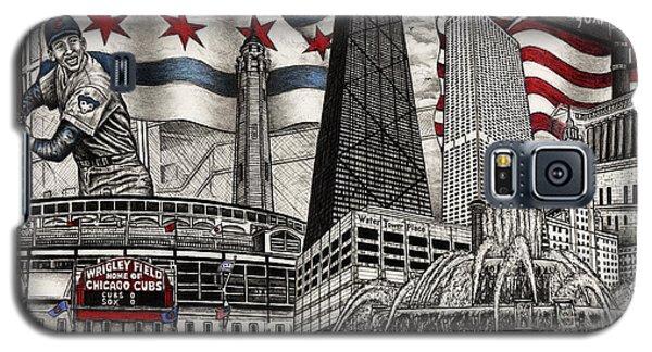 Chicago Cubs, Ernie Banks, Wrigley Field Galaxy S5 Case