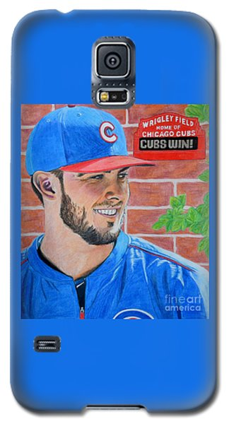 Chicago Cubs Kris Bryant Portrait Galaxy S5 Case