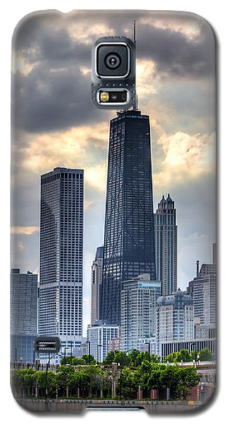 Hancock Building Galaxy S5 Case - Chicago From The Pier by Joshua Ball