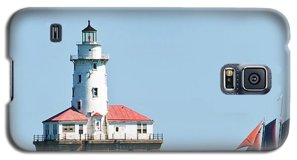 Chicago Harbor Lighthouse And A Tall Ship Galaxy S5 Case