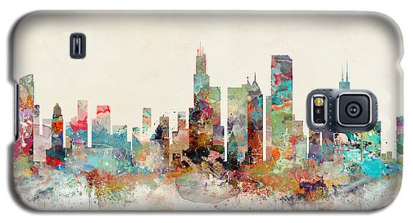 Galaxy S5 Case featuring the painting Chicago Illinois by Bri B