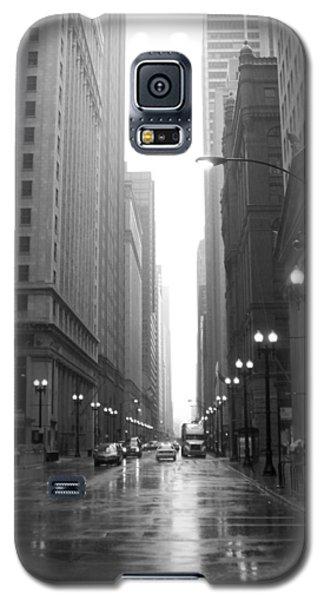 Chicago In The Rain 2 B-w Galaxy S5 Case