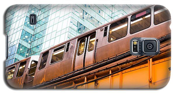 Train Galaxy S5 Case - Chicago L Elevated Train  by Paul Velgos