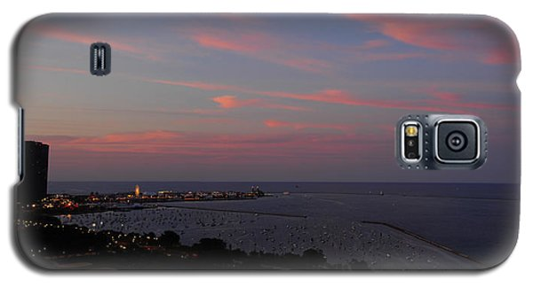 Chicago Lakefront At Sunset Galaxy S5 Case by Michael Bessler