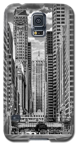 Chicago Lasalle Street Black And White Galaxy S5 Case