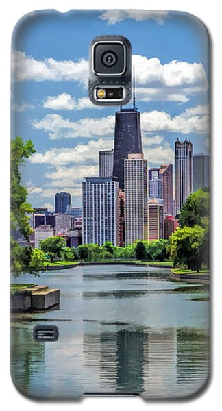 Galaxy S5 Case featuring the painting Chicago Lincoln Park Lagoon by Christopher Arndt