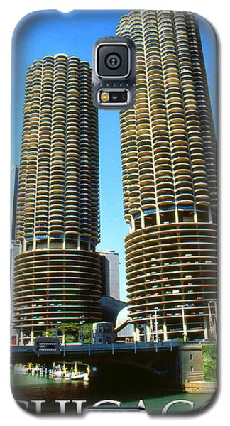Chicago Marina City - Poster Art Galaxy S5 Case by Art America Gallery Peter Potter
