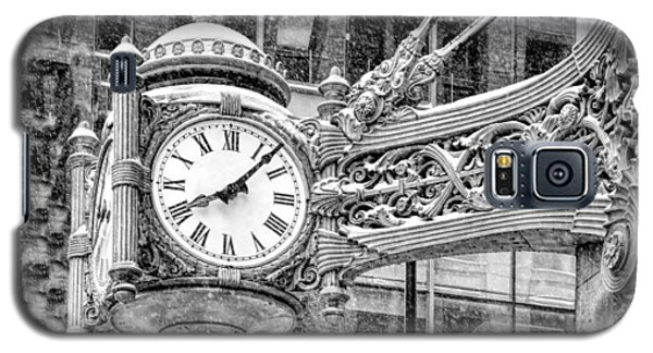 Chicago Marshall Field State Street Clock Black And White Galaxy S5 Case