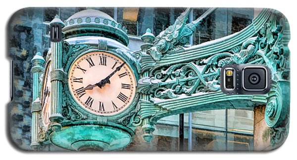 Galaxy S5 Case featuring the painting Chicago Marshall Field State Street Clock by Christopher Arndt