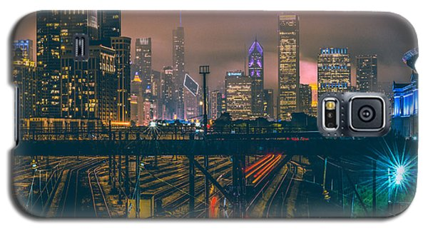 Chicago Night Skyline  Galaxy S5 Case by Cory Dewald