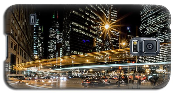 Chicago Nighttime Time Exposure Galaxy S5 Case