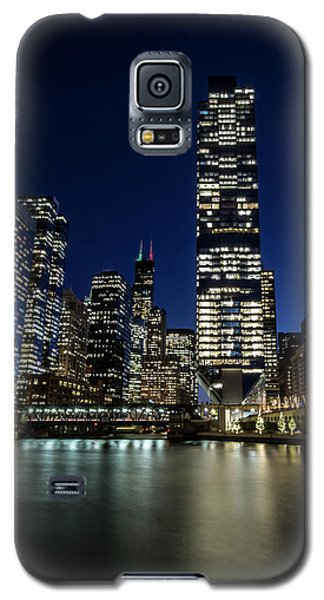 Chicago River And Skyline At Dusk  Galaxy S5 Case