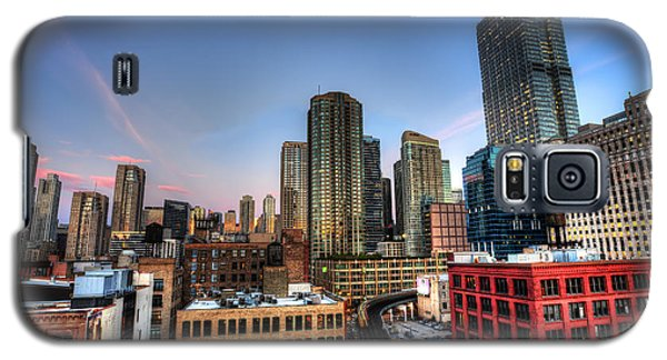 Chicago Rooftop And Sunset Galaxy S5 Case by Shawn Everhart