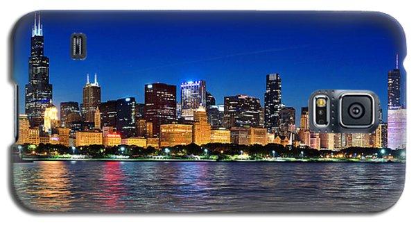 Chicago Shorline At Night Galaxy S5 Case