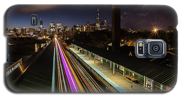 Chicago Skyline And Train Lights Galaxy S5 Case