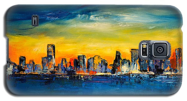Galaxy S5 Case featuring the painting Chicago Skyline by Elise Palmigiani