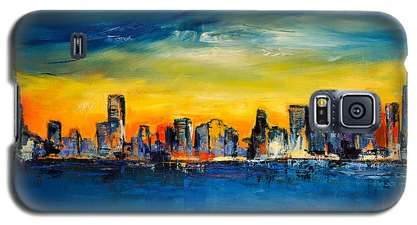 Chicago Skyline Galaxy S5 Case by Elise Palmigiani