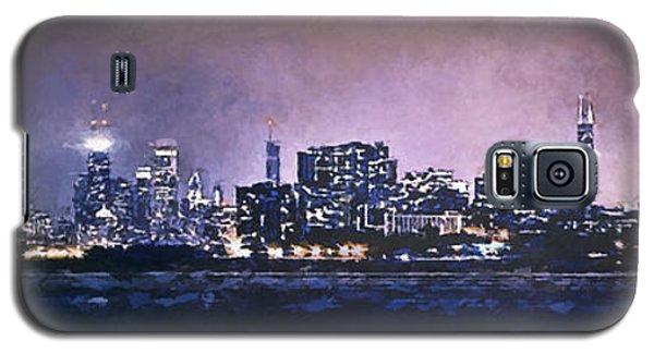 Hancock Building Galaxy S5 Case - Chicago Skyline From Evanston by Scott Norris