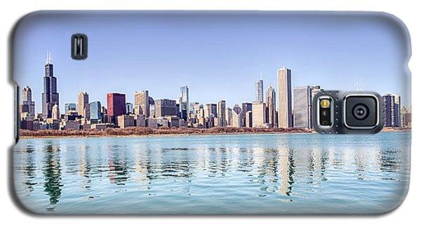 Chicago Skyline Reflecting In Lake Michigan Galaxy S5 Case
