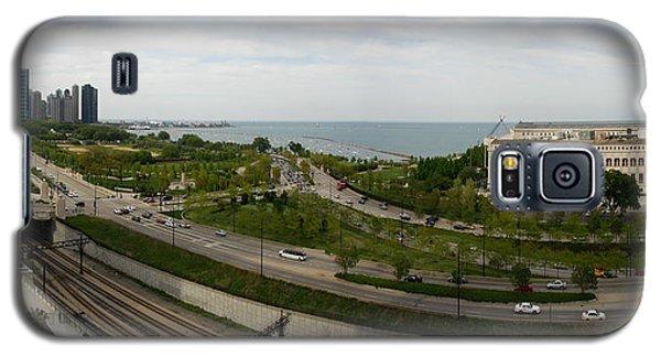 Chicago Skyline Showing Monroe Harbor Galaxy S5 Case