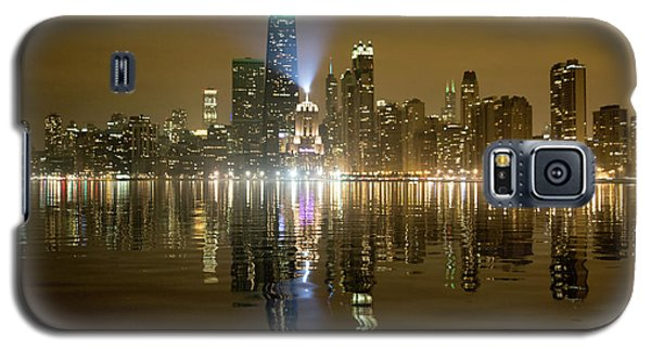 Chicago Skyline With Lindbergh Beacon On Palmolive Building Galaxy S5 Case