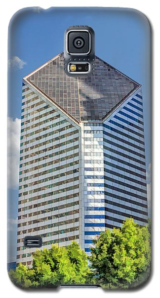 Galaxy S5 Case featuring the painting Chicago Smurfit-stone Building by Christopher Arndt