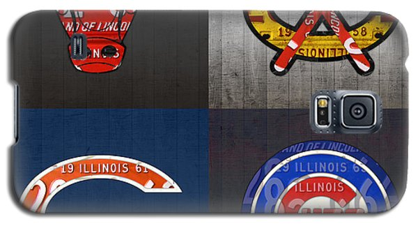 Bull Galaxy S5 Case - Chicago Sports Fan Recycled Vintage Illinois License Plate Art Bulls Blackhawks Bears And Cubs by Design Turnpike