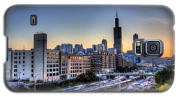 Chicago Sunrise Rush Hour Galaxy S5 Case by Shawn Everhart