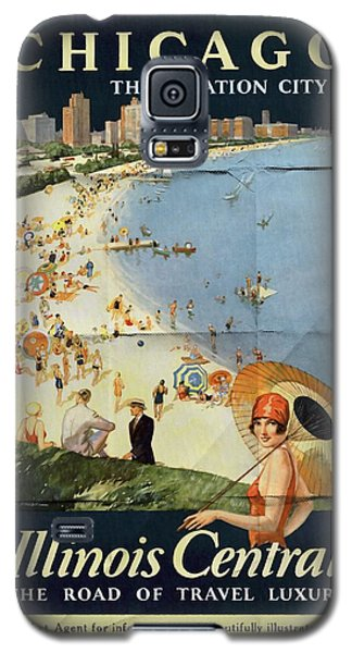 Chicago The Vacation City - Vintage Poster Folded Galaxy S5 Case
