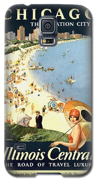 Chicago The Vacation City - Vintage Poster Restored Galaxy S5 Case