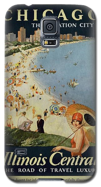 Chicago The Vacation City - Vintage Poster Vintagelized Galaxy S5 Case