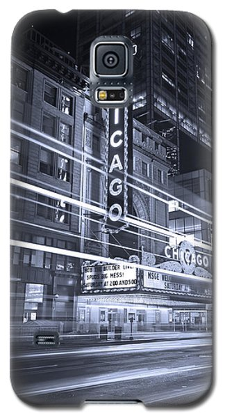 Chicago Theater Marquee B And W Galaxy S5 Case by Steve Gadomski