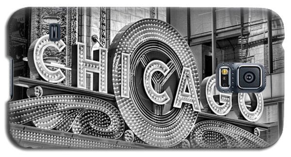 Chicago Theatre Marquee Black And White Galaxy S5 Case