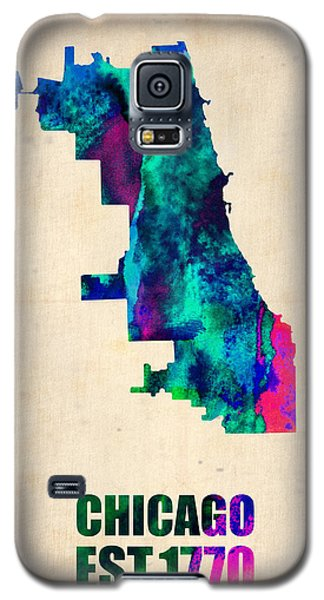 Chicago Watercolor Map Galaxy S5 Case by Naxart Studio