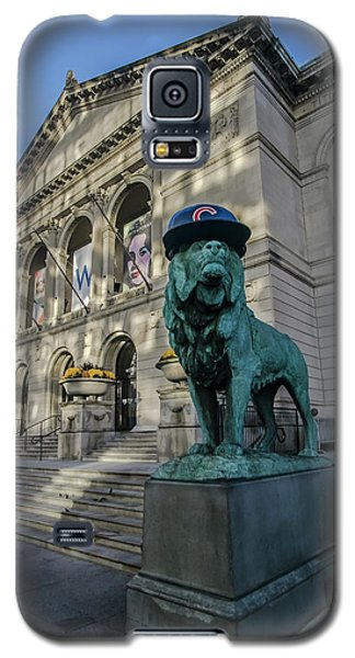 Chicago's Art Institute With Cubs Hat Galaxy S5 Case