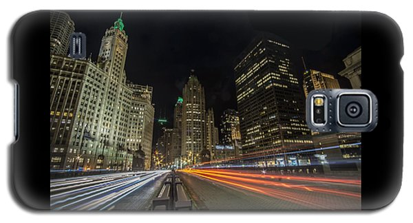Chicago's Mag Mile Night Streaks Galaxy S5 Case