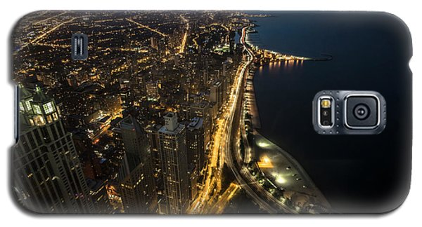 Chicago's North Side From Above At Night  Galaxy S5 Case