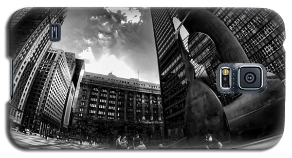 Chicago's Picasso With A Fisheye View Galaxy S5 Case