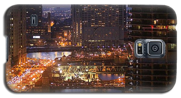 Chicago's River At Night Galaxy S5 Case