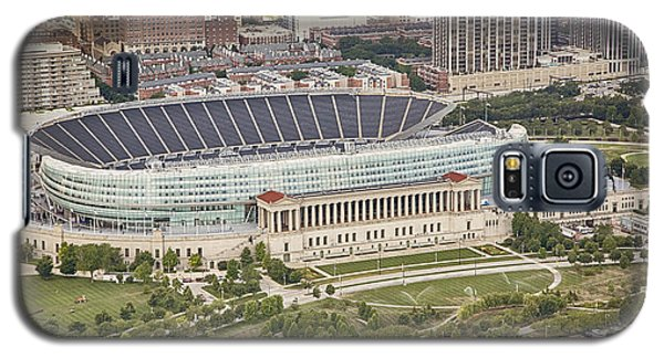 Galaxy S5 Case featuring the photograph Chicago's Soldier Field Aerial by Adam Romanowicz