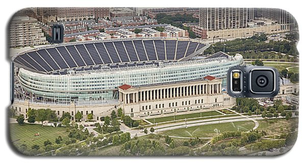 Chicago's Soldier Field Aerial Galaxy S5 Case by Adam Romanowicz