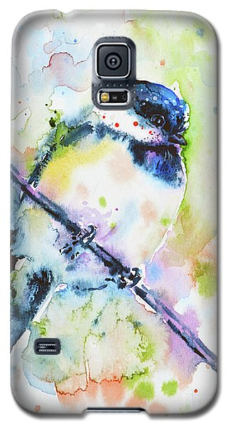 Galaxy S5 Case featuring the painting Chick-a-dee-dee-dee by Zaira Dzhaubaeva