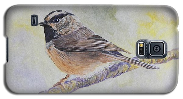 Galaxy S5 Case featuring the painting Chickadee 2 by Robert Decker