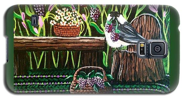 Chickadee Berries Galaxy S5 Case by Jennifer Lake