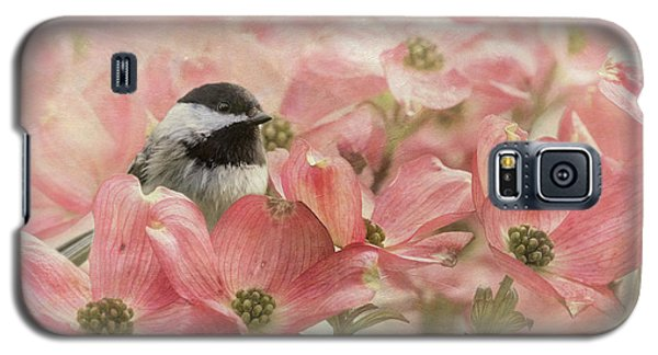Galaxy S5 Case featuring the photograph Chickadee In The Dogwood by Angie Vogel