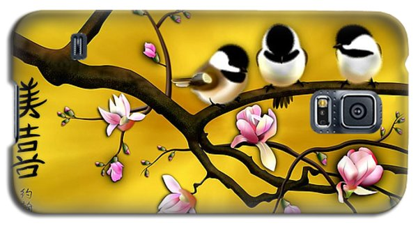 Chickadee On Blooming Magnolia Branch Galaxy S5 Case by John Wills