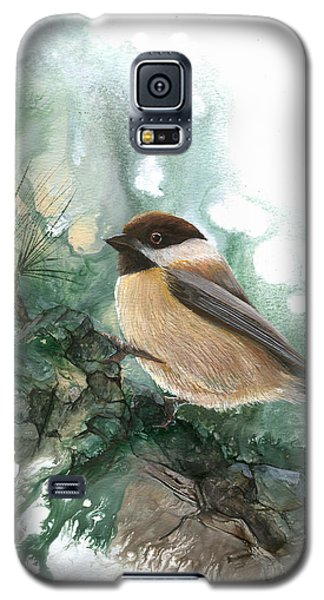 Galaxy S5 Case featuring the painting Chickadee by Sherry Shipley