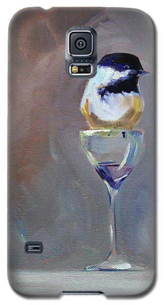 Chickadee Wine Galaxy S5 Case by Nancy Merkle
