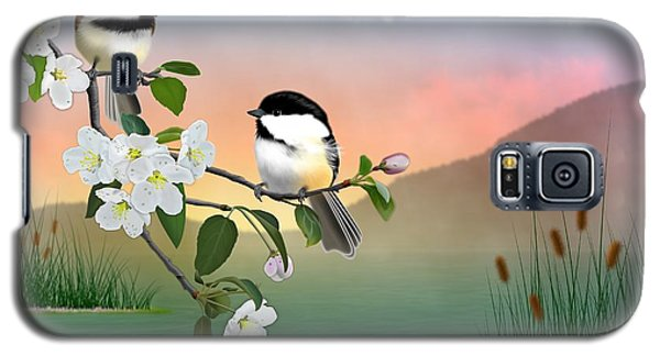 Chickadees And Apple Blossoms Galaxy S5 Case by John Wills